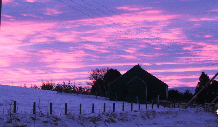 Boxing Day sky over Tomatin Church 2010 (Betty via Denise)